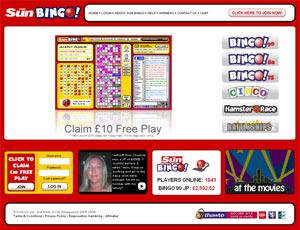 Sun Bingo Screen